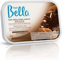 Depil Bella cera quente em barra negra 250g