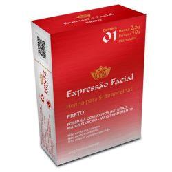 Expressão facial kit henna -preto 2,5g