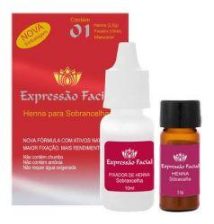 Expressão facial kit henna - marrom 2,5g