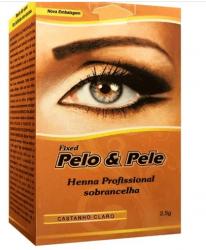 Pelo e pele henna sobrancelha- castanho claro 2,5g