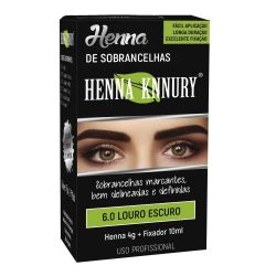 Knnury henna sobrancelha -castanho escuro 4,0g