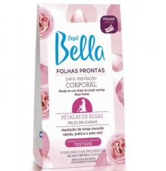 Depil Bella folha pronta para depilação facial pétalas de rosas - 16FLS