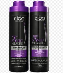 Kit eico shampoo+condicionador  santo milagre - 800ml