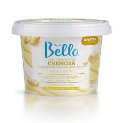 Depil Bella cera depilatória cremosa micro-ondas chocolate branco - 200g